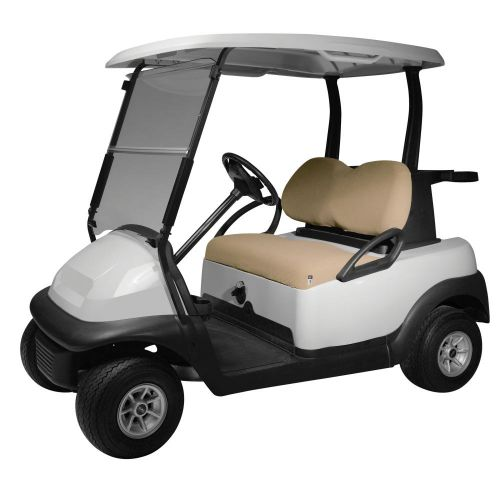 Fairway Terry Cloth Golf Cart Seat Cover, Light Khaki