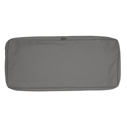 Montlake FadeSafe Water-Resistant 48 x 18 x 3 Inch Patio Bench/Settee Cushion Cover, Light Charcoal