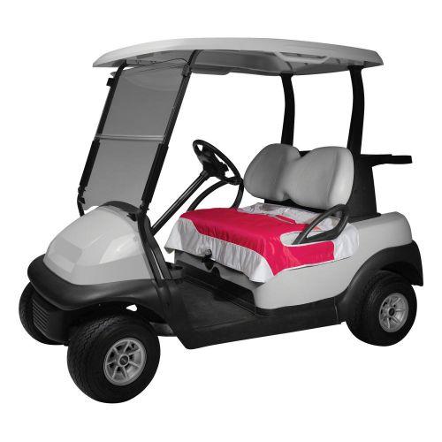 Fairway Golf Cart Seat Blanket, Perfect Pink/Silver Shot