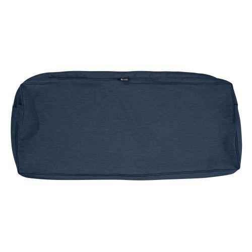 Montlake FadeSafe Water-Resistant 54 x 18 x 3 Inch Patio Bench/Settee Cushion Cover, Heather Indigo