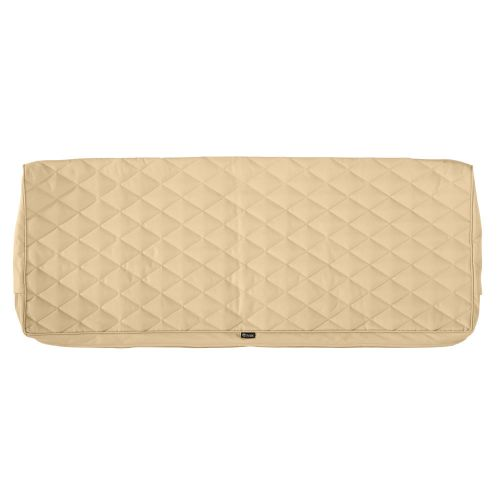 Montlake FadeSafe Water-Resistant Patio Bench/Settee Quilted Cushion Cover, 48 x 18 x 3 Inch, Chamomile