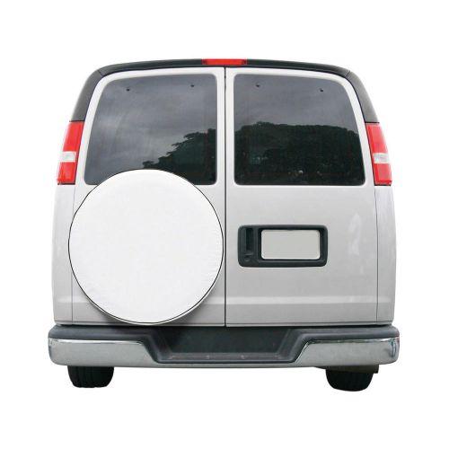 "Over Drive Custom Fit Spare Tire RV Cover, Wheels 26.75"" -27.75""  Diameter, White"