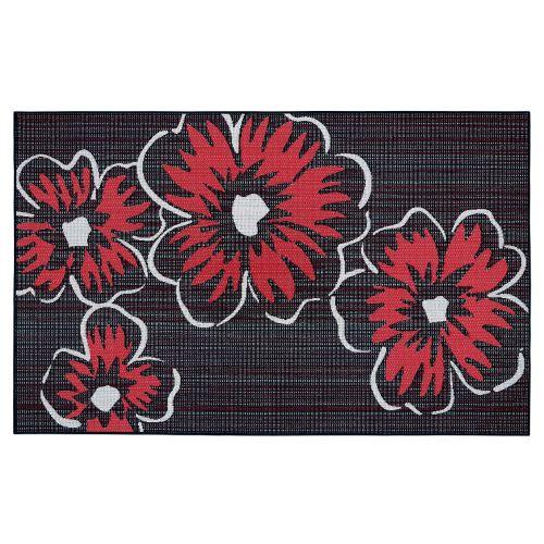 Vera Bradley by Classic Accessories  Indoor/Outdoor Rug, 5 x 8 Foot, Happy Blooms