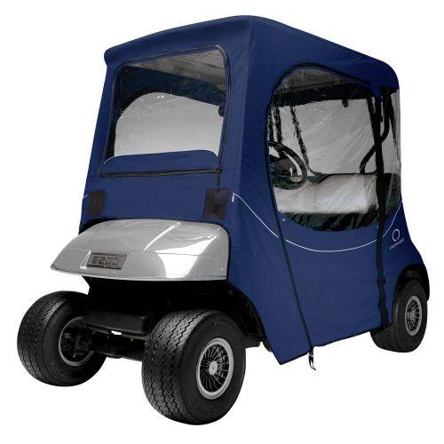 Fairway Short Roof 2-Person FadeSafe E-Z-Go Golf Cart Enclosure, Navy News