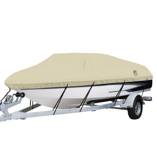 """DryGuard Waterproof Boat Cover, Fits Boats 22' - 24' L x 116""""  W, Trailerable Boat Cover with Bow, Windshield and Stern Reinforcement Panels, Model F"""