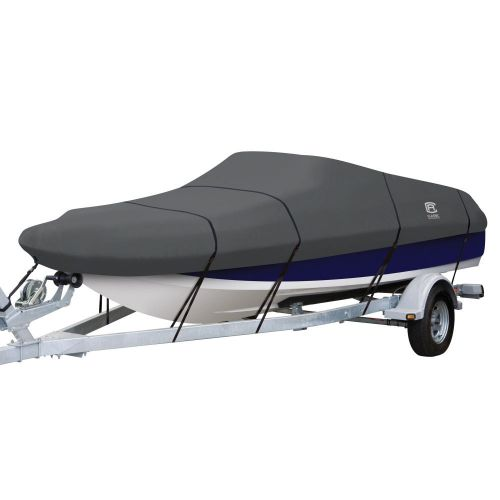 StormPro Heavy-Duty Deck Boat Cover, Fits boats 22 ft - 24 ft long x 116 in wide