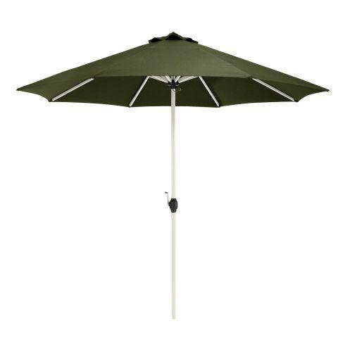 Montlake Fadesafe 9' Round Aluminum Patio Umbrella, Heather Fern