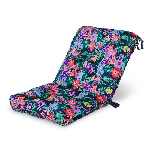 Vera Bradley by Classic Accessories  Water-Resistant Patio Chair Cushion, 21 x 19 x 22.5 x 5 Inch, Happy Blooms