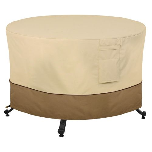Veranda Water-Resistant 56 Inch Round Fire Pit Table Cover