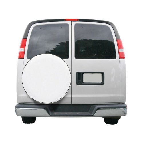 "Over Drive Custom Fit Spare Tire RV Cover, Wheels 24"" -25""  Diameter, White"