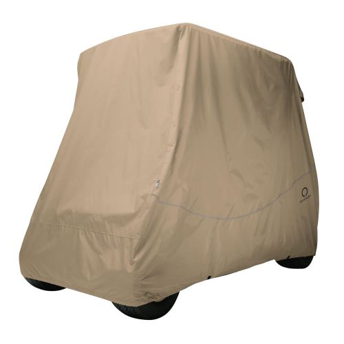 Fairway Long Roof 4-Person Golf Cart Quick-Fit Cover, Light Khaki