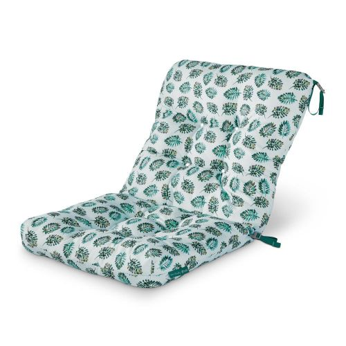 Vera Bradley by Classic Accessories  Water-Resistant Patio Chair Cushion, 21 x 19 x 22.5 x 5 Inch, Seawater Palm