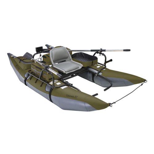 Colorado XT Pontoon Boat, Sage/Grey