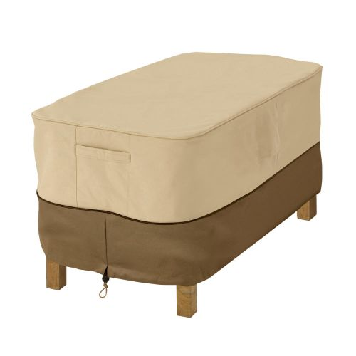 Veranda Water-Resistant 26 Inch Rectangular Patio Ottoman/Side Table Cover