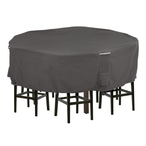 Ravenna Water-Resistant 70 Inch Tall Round Patio Table & Chair Set Cover