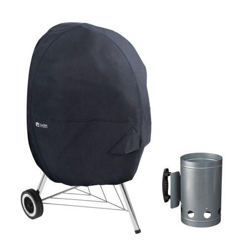 Water-Resistant 30 Inch Kettle BBQ Grill Cover with Charcoal Chimney