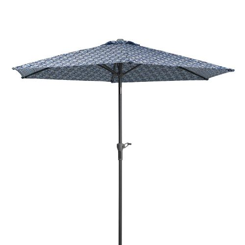 Vera Bradley by Classic Accessories  Water-Resistant Market Umbrella, 9 Foot, Ikat Island