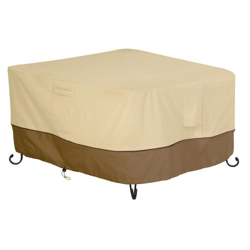 Veranda Water-Resistant Square Fire Pit Table Cover