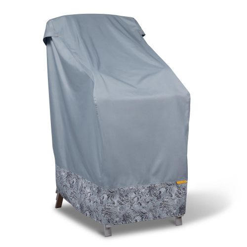 Vera Bradley by Classic Accessories  Water-Resistant Stackable Patio Chair Cover, 26 x 34 x 45 Inch, Rain Forest Toile Gray