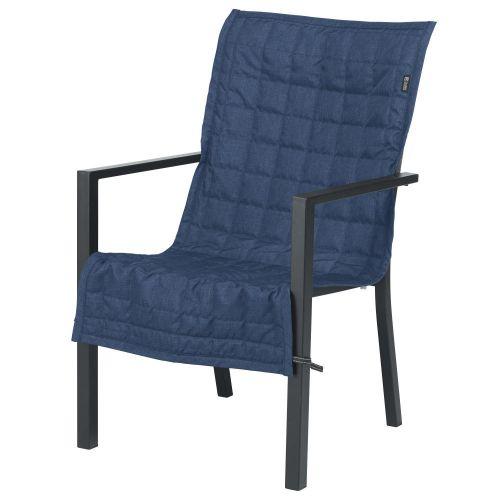 Montlake FadeSafe Water-Resistant 45 Inch Patio Chair Slipcover, Heather Indigo