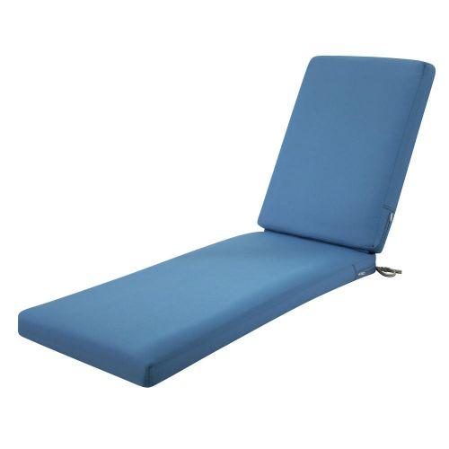 Ravenna Water-Resistant Patio Chaise Cushion, 80 x 26 x 3 Inch, Empire Blue