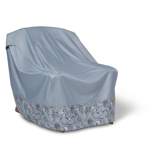 Vera Bradley by Classic Accessories  Water-Resistant Adirondack Patio Chair Cover, 32 x 34 x 32 Inch, Rain Forest Toile Gray