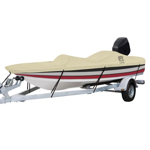 """DryGuard Waterproof Boat Cover, Fits Boats 14' - 16' L x 90""""  W, Trailerable Boat Cover with Bow, Windshield and Stern Reinforcement Panels, Model B"""