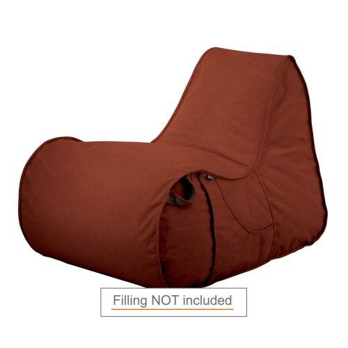 Montlake Frameless Indoor/Outdoor Bean Bag Chair Shell, Heather Henna