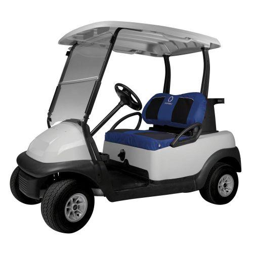 Fairway Neoprene Paneled Golf Cart Seat Cover, Navy News/Black