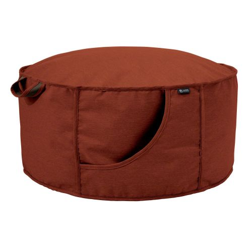 Montlake FadeSafe Water-Resistant Frameless Indoor/Outdoor Bean Bag Ottoman