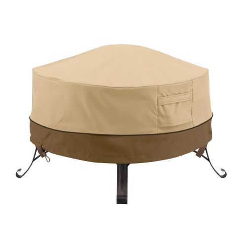 Veranda Water-Resistant Full Coverage Round Fire Pit Cover