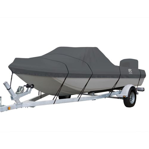 StormPro Heavy-Duty Tri-Hull Outboard Boat Cover, Fits boats 14 ft 6 in - 15 ft 6 in long x 80 in wide
