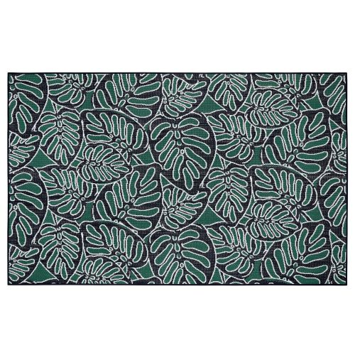 Vera Bradley by Classic Accessories  Indoor/Outdoor Rug, 8 x 10 Foot, Rain Forest Canopy Coral