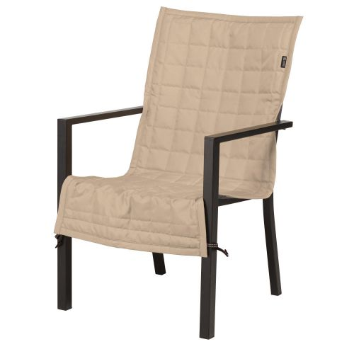 Montlake FadeSafe Water-Resistant 45 Inch Patio Chair Slipcover