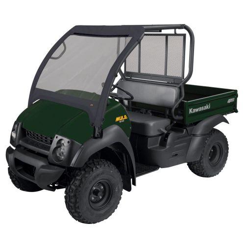 QuadGear UTV Front Windshield, Fits Kawasaki Mule 600, 610, 610 4x4, 610 4x4 XC (2015 models and older), Black