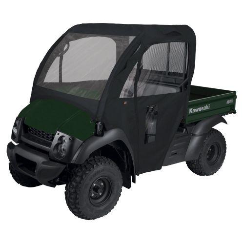 QuadGear UTV Cab Enclosure, Fits Kawasaki Mule 600, 610, 610 4x4, 610 4x4 XC (2015 models and older), Black