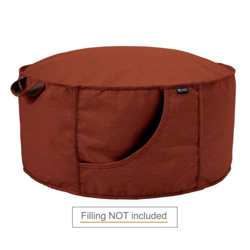 Montlake Frameless Indoor/Outdoor Bean Bag Ottoman Shell, Heather Henna