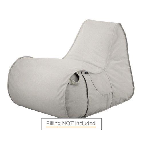 Montlake Frameless Indoor/Outdoor Bean Bag Chair Shell, Heather Grey