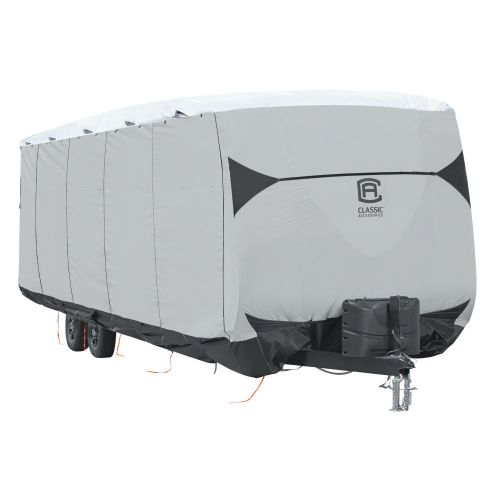 """Over Drive SkyShield Deluxe Water-Repellent Travel Trailer Cover, Fits 35' - 38'L x 124"""" H, Model 8T"""