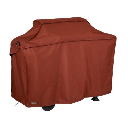 Montlake FadeSafe Water-Resistant 58 Inch BBQ Grill Cover, Heather Henna