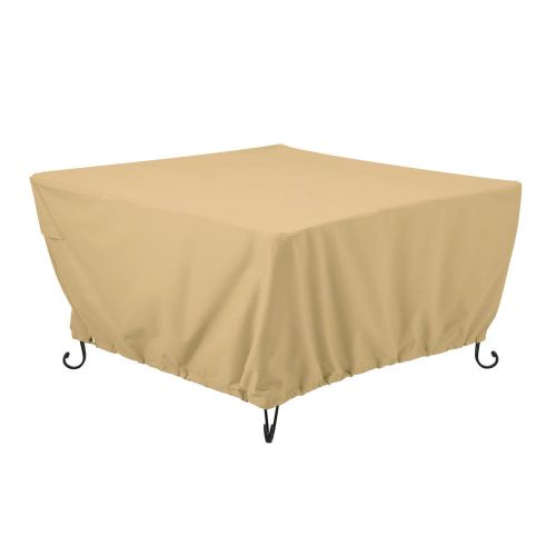 Terrazzo Water-Resistant Square Fire Pit Table Cover
