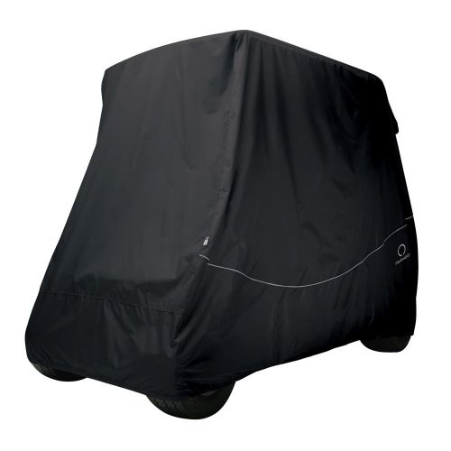 Fairway Short Roof 2-Person Golf Cart Quick-Fit Cover, Black
