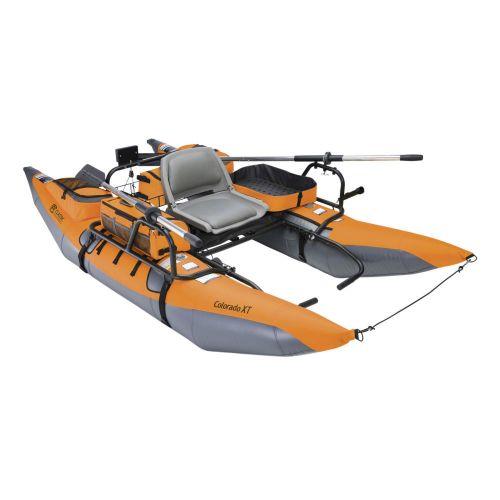 Colorado XT Pontoon Boat, Pumpkin/Grey