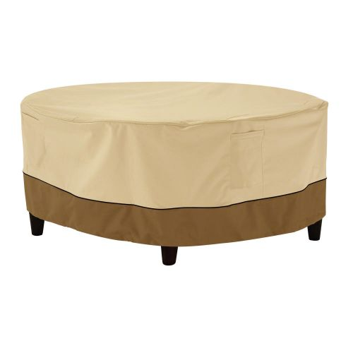 Veranda Water-Resistant 24 Inch Round Patio Ottoman/Coffee Table Cover