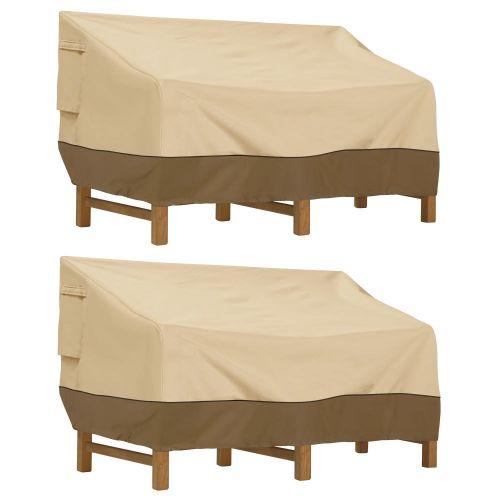 Veranda Water-Resistant 88 Inch Deep Seated Patio Sofa/Loveseat Cover, 2-Pack