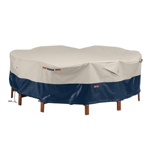 Mainland Water-Resistant 94 Inch Patio Round Table and Chair Set Cover