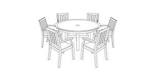 Custom Round Table Set Covers